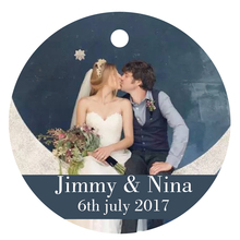 100 PCS Personalized Printing Paper Hand Labels Round Custom Wedding Decoration Tag Label Invitation Card Wedding Favor Gift