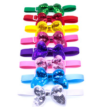 50pcs Pet Supplies Dog Accessories Bright Sequin Pet Dog Cat Bow Ties Neckties Puppy Bow tie Dog Party Decoration Products