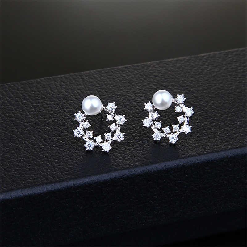 Ataullah długi spadek moda dynda wiszące kolczyki 925 srebrna igła inkrustowane z cyrkonią kolczyki biżuteria Brincos Bijoux EW013