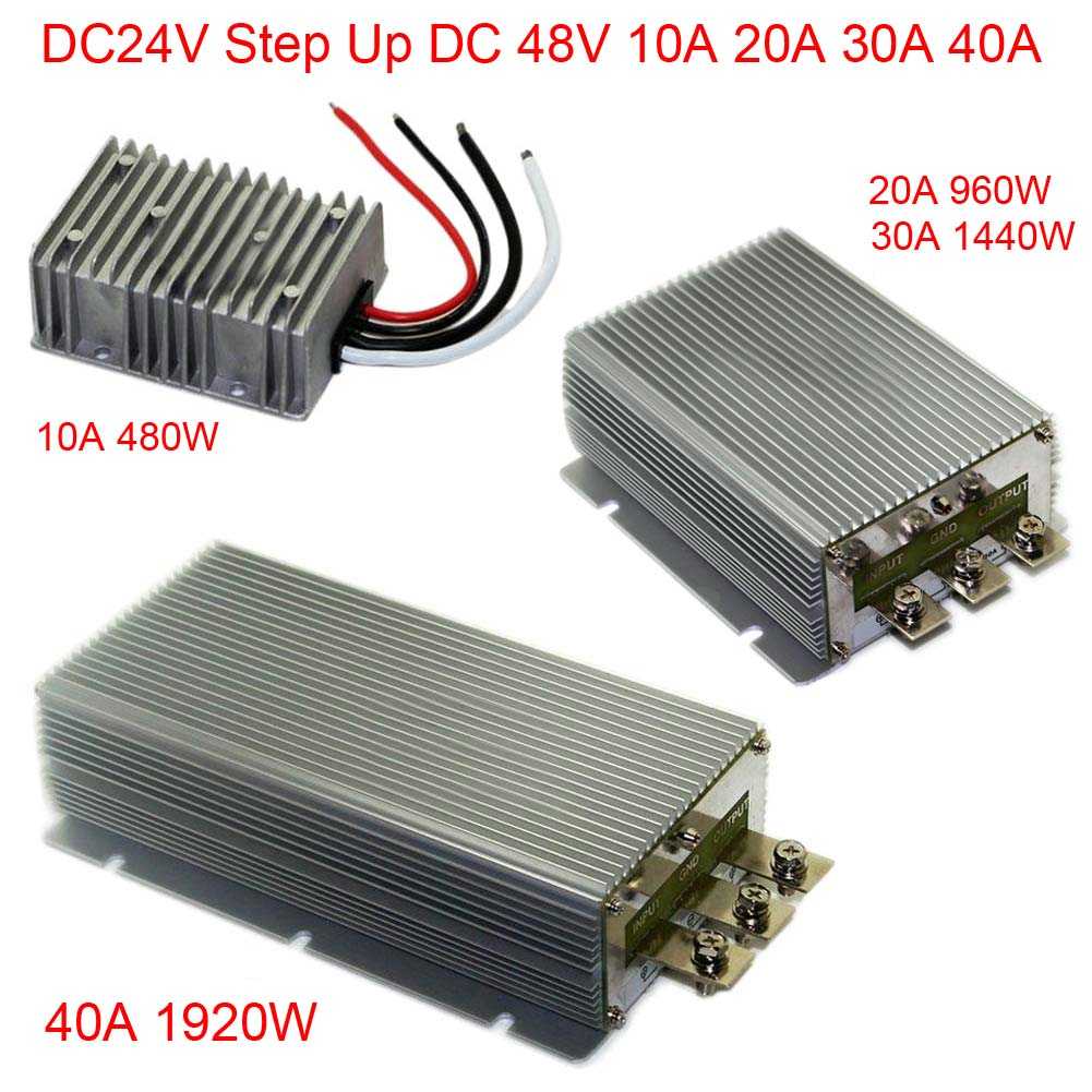 Top Quality DC24V Step Up 48V 10A/20A/30A/40A Power Supply Converter Module Waterproof Convenience woodwork a step by step photographic guide to successful woodworking