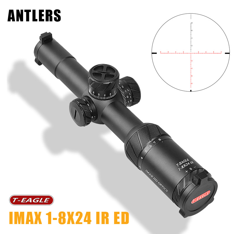 T-EAGLE IMAX 1-8X24IR Riflescope waterproof shockproof 8x optical system ED lens 7-layer coating for hunting Caza big Vision