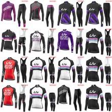 Liv 2018 Sports de plein air printemps été vélo vélo cyclisme manches longues jersey bib pantalon ensembles vtt vêtements tenue de femme G2002