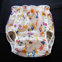 Free Shipping NICEDIAPER2221 Cartoon Mickey Mouse S Diaper Cover Waterproof Trousers Incontinence Products ABDL