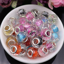10pcs Lot 925 Sterling Silver Color Glitter Powder Cut Faceted Resin Beads for Jewelry Making Beads Charms fit Pandora Bracelet kokololee pu leather car seat cover for nissan qashqai note murano march teana tiida almera x trai juke auto accessories styling