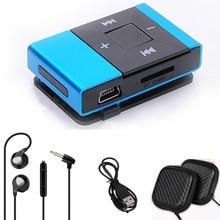 Новый Портативный Mp3-плеер, Мини-Клип Многоцветный Mp3-плеер с Micro TF/Слот Для Карты SD + Наушники + ящик Для Хранения + USB кабель