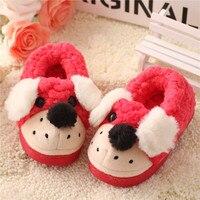 Autumn Winter Kids Baby Cotton Slippers Home Shoes Children Girls Boys Indoor Slipper Warm Cute Cartoon