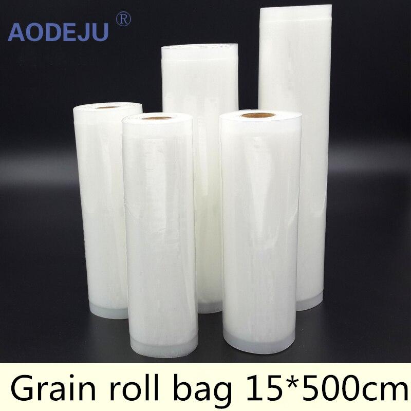 15*500cm Roll Vacuum Bag Fresh - keeping Bag Food Preservation Bag Storage Bag fresh keeping vacuum wine bottle stopper black transparent