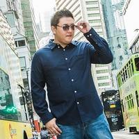 New Fashion Casual Men Shirt Long Sleeve Mandarin Collar Slim plus size Shirt Men Korean Business Mens Dress Shirts Men Clothes