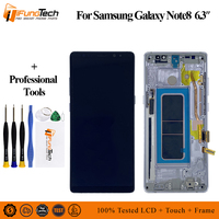 6,3 ЖК дисплей с рамкой для samsung Note 8 сенсорный экран дигитайзер в сборе для samsung Galaxy N9500 N950F N900D N900DS lcd