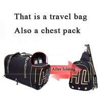 JXSLTC Fashion Mens Travel Bag Multifunctional Foldable Chest backpack Large Capacity Designer Hand Luggage Travel Duffle Bags