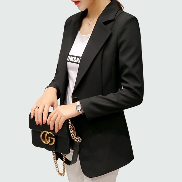 Wine Red Black Women Blazers And Jackets 2018 New Spring Autumn Fashion Single Button Blazer Femenino Ladies Blazer Female 3