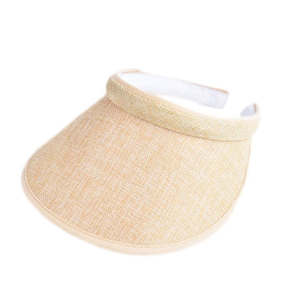 2017 Spring Summer New Big Wide Brim Straw Sun Visors hat Women/Gilr Fashion Empty Top Caps