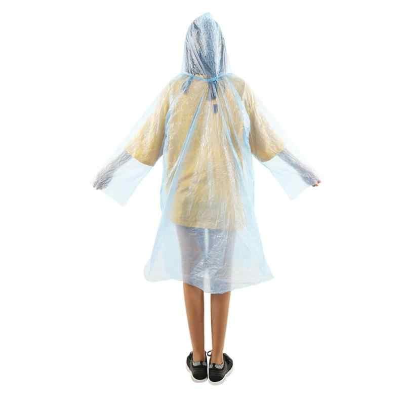 1Pc Unisex Wegwerp Regenjas Adult Emergency Waterdichte Kap Poncho Reizen Camping Moet Regen Jas Woondecoratie Accessoires