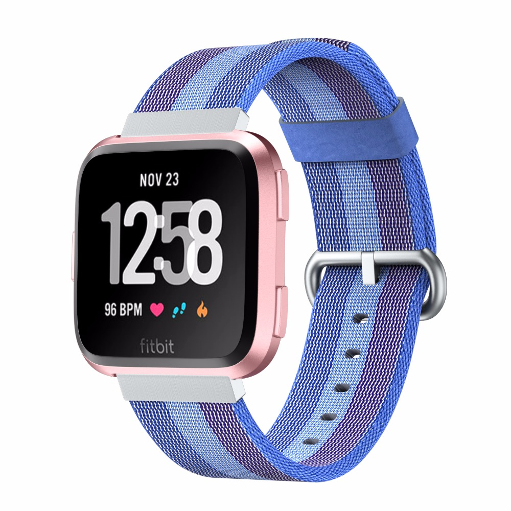 New Arrival 10 Colors Wristband for Fitbit Versa Watch Band Nylon Watchband 22mm Width Replacement Wrist Strap for Fitbit Versa