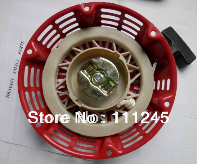 RECOIL STARTER ASSEMBLY  STEEL RATCHET FOR  HONDA  GX240 GX270  REWIND STARTER REPL. # 28400-ZE2-W01ZA recoil starter assembly steel ratchet for honda gx240 gx270 rewind starter repl 28400 ze2 w01za
