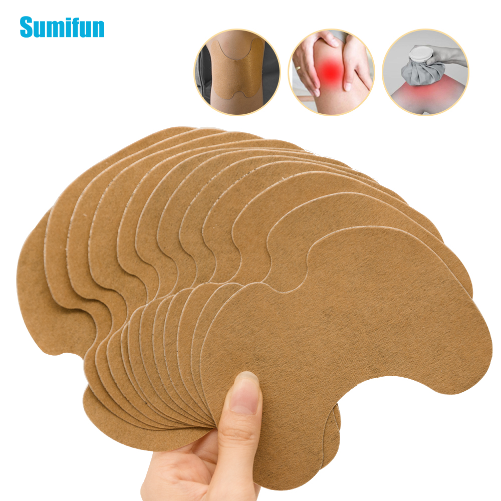 Sumifun 1pcs/6pcs/12pcs Knee Medical Plaster Wormwood Extract Joint Ache Pain Relieving Sticker Rheumatoid Arthritis Patch C1630