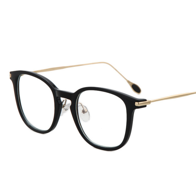 new fashion brand vintage square frame glasses women retro nerd glasses men glasses optical frames black