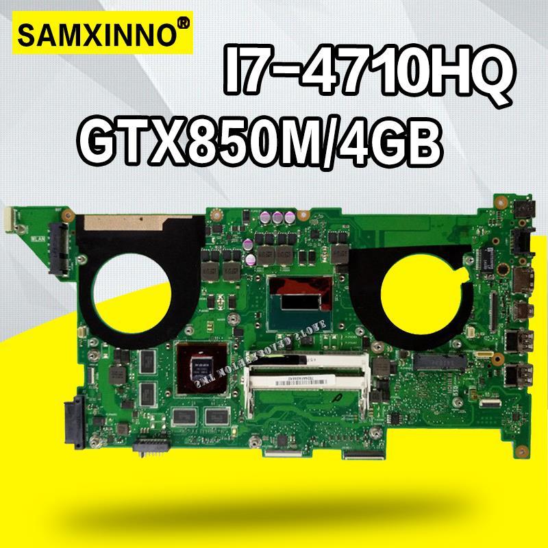 N750JK REV3.0 I7-4700HQ GTX850M 4GB Laptop Motherboard For Asus N750J N750JK N750JV  HM86 100% Tested Mainboard Motherboard