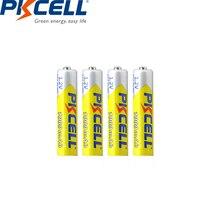 4 adet PKCELL AAA pil 1000mah 1.2v NIMH AAA şarj edilebilir piller 3A aaa ni mh piller pil için el feneri oyuncaklar