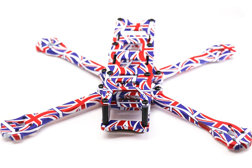 Image 3 - TCMM 5 Inch Drone Frame X220HV The Union Jack Printed Frame Kit Wheelbase 220mm Carbon Fiber For FPV Racing Drone-in Parts & Accessories from Toys & Hobbies