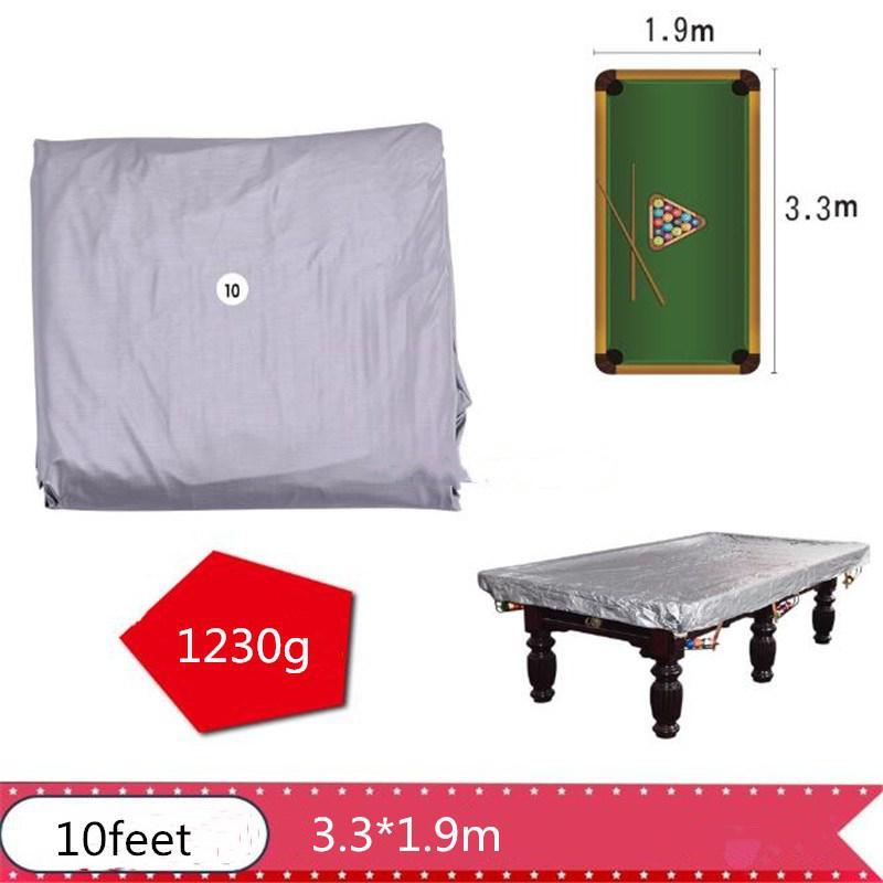 PVC Table Billiard Cover 7/8/9/10/11 Feet Billiard Tennis Table Cover Rip Resistant Oxford Pool Table Billiard Cover