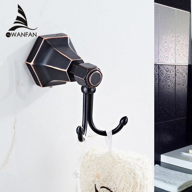 Robe Hooks European Style Br Black Bathroom Hangings Gold Towel Rack Clothes Hook Home Decoration