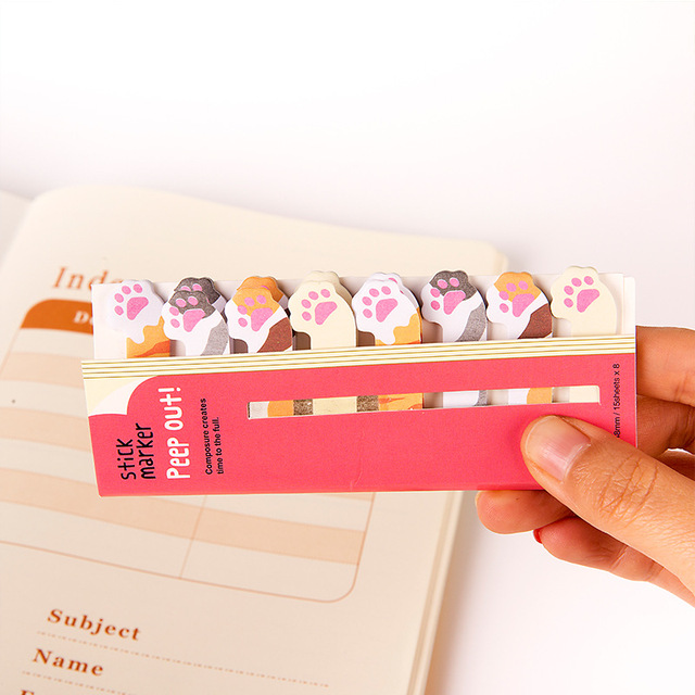 Kawaii Memo Pad Bookmarks Creative Cute Cat Panda Sticky Notes index Posted It Planner Stationery School Supplies Paper Stickers 4