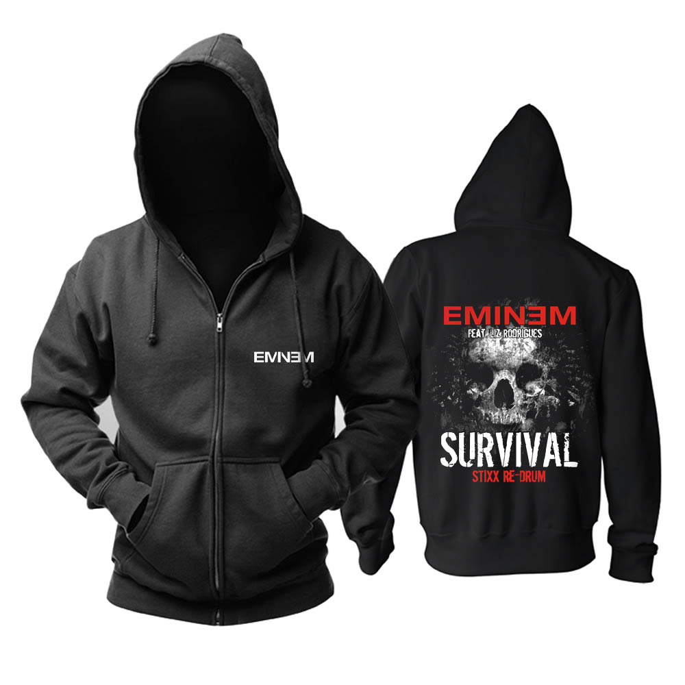 Bloodhoof  Eminem Hardcore Hip Hop Pop Rap mucis black new hoodie Asian Size