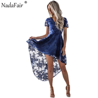 Nadafair Vคอแขนสั้นเปิดกลับMidi