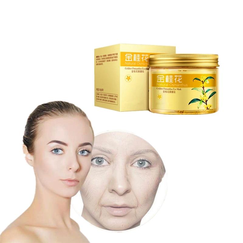 80pcs Canthus wrinkles Remover Osmanthus Essence Eye Mask Face Collagen Gel Patches for skin loose elastic restoration cream