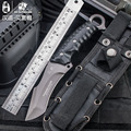 HX outdoors High quality tactical knife multi tool surface plated titanium Fixed black Knife Camping Tool survival hunting knive hunting knive high quality tactical knife tactical knife -