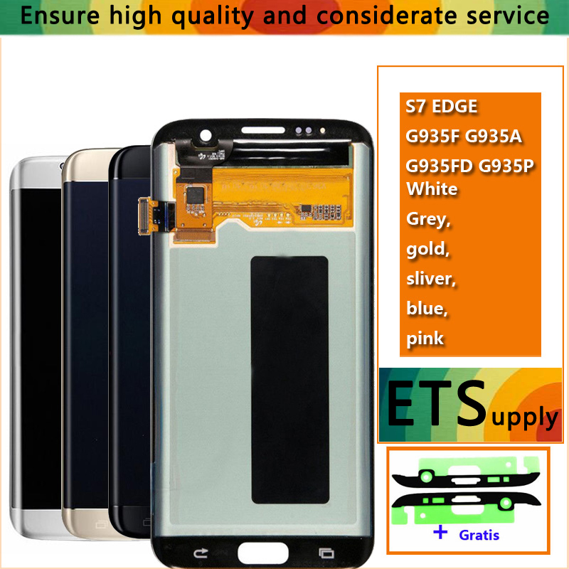 100% Test Work Good Amoled LCD Display Touch Screen Digitizer Assembly For Samsung Galaxy S7 Edge G935 G935F LCD Screen