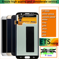 100 Test Work Good Amoled LCD Display Touch Screen Digitizer Assembly For Samsung Galaxy S7 Edge