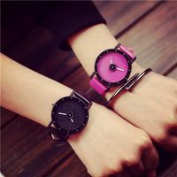 Quartz Watch Women Japanese Harajuku Style Leather Watch Men And Women The Same Paragraph 2016 LZ555