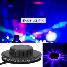 Kolorowa obrotowa lampa RGB oświetlenie sceniczne LED Xmas oświetlenie efektowe magiczne podwójne kulki LED KTV Bar światła Disco dla DJ Dropshipping