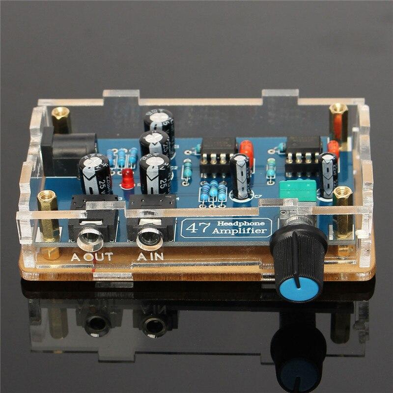 Portable HIFI Headphone Amplifier PCB AMP DIY Kit for DA47 Earphone font b Accessories b font