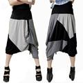 # 1303 summer women's fashion wholesale personalized stitching large hanging crotch crotch harem pants big yards was thin