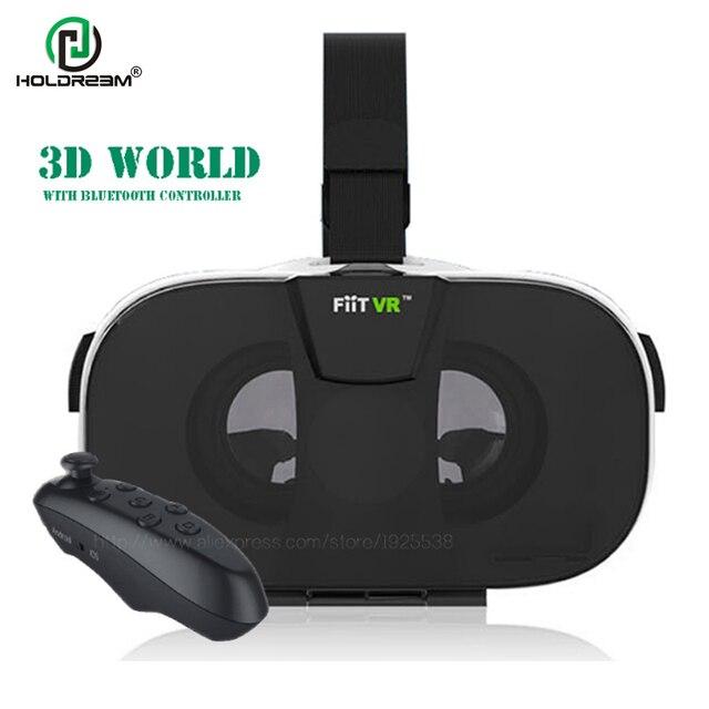 2016 FiitVR 2n Virtual Reality Smartphone 3D Box Glasses Google Cardboard Head Mount Video Helmet for 4.0-6.5+Bluetooth Remote