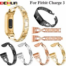 Watch Band for Fitbit Charge 3 Band Strap Stainless Steel Metal Wrist Strap Women Jewelry Bracelet for fitbit Charge 3 watchband length adjustable strap bracelets for man women watch band style stainless steel net band christian cross prayer male jewelry