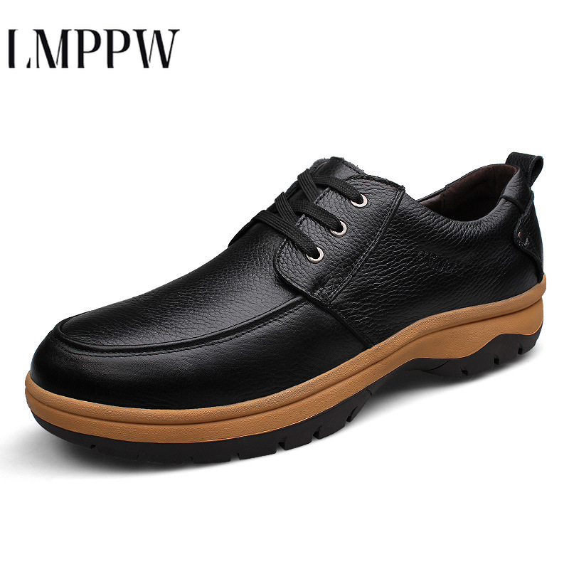 Business-Shoes Formal Lace-Up-Man Genuine-Leather Luxury Brand Outdoor Male 53 Office-Work