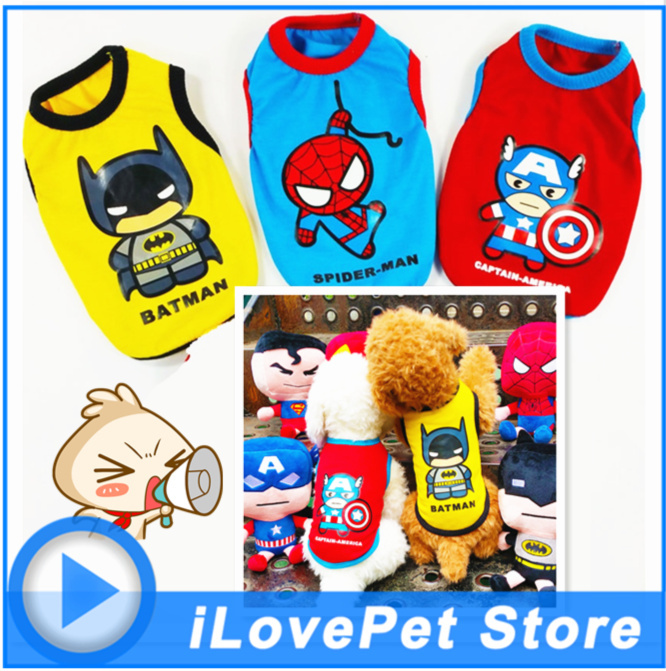 Best pet <font><b>Dog</b></font> Clothes Vest Superman Captain <font><b>SpiderMan</b></font> For Pet <font><b>Dog</b></font> Spring Summer Cotton <font><b>Small</b></font> <font><b>dog</b></font> clothing Chihuahua