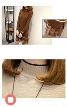 New Autumn Winter Women Knitting Fake 2 Piece Turtleneck Striped  Knitted Sweater Dress  Loose Warm Lady Plus Size D87515F