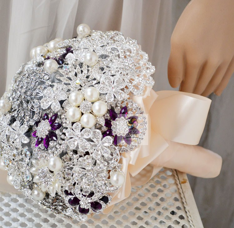 3 Size Brand New Luxury Hand Made Top Quality Crystal Brooch Jewelry ...