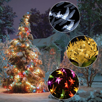 LED Solar Powered Dragonfly Light String Christmas Decoration Supplies