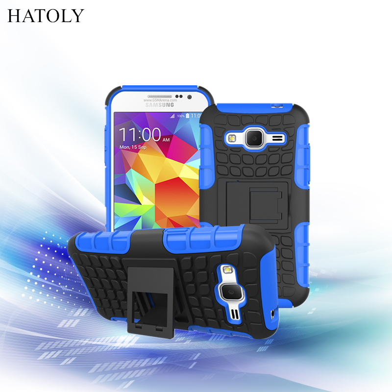 For Samsung Galaxy Core Prime G360 G361 Case Heavy Duty Armor Case Hybrid Hard Plastic Soft Rugged Rubber Phone Cover Coque