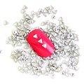 1000 Pçs/lote Sliver Triângulo Design Etiqueta Da Arte Do Prego do Metal 3D Nail Art Charme Prego Parafuso Prisioneiro Do Punk Rebite Decoração Decal Manicure WY340