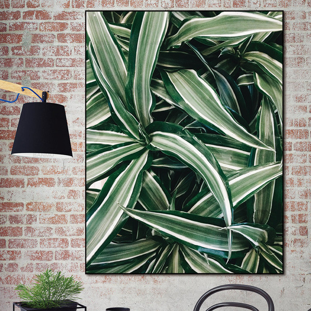 picture canvas  wall art Modular Leaf canvas painting  Home Decoration Canvas Prints Pictures For Living Room Without Frame