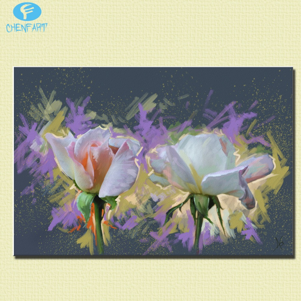 Hot sale print painting smell the roses top decorative wall paintings for home decor idea oil painting art print on canvas