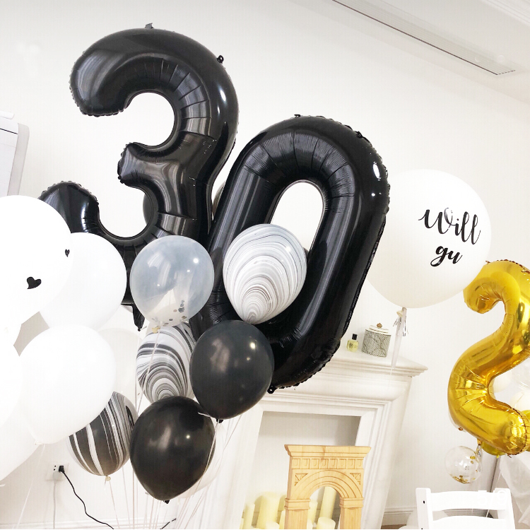 """32/"""" Giant 18th Birthday Party Number  Foil Balloon Air Decoration Age 18 baloons"""