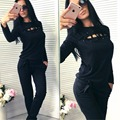 New 2017 Fashion Women Casual Sportswear Suit Autumn Tracksuit Lace Ladies Women's Sets High Quality Clothing conjunto feminino